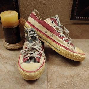 Converse Low Top Vintage American Flag Style